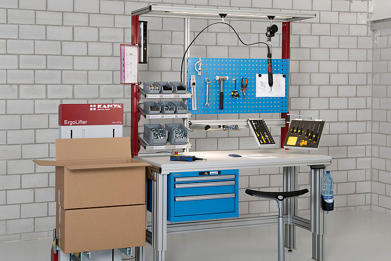Assembly workstation in the production area